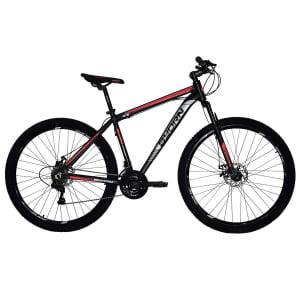 Bicicleta Byorn Aro 29 Alumínio Freio A Disco Câmbio Shimano 21 Marchas - Preto e Vermelho