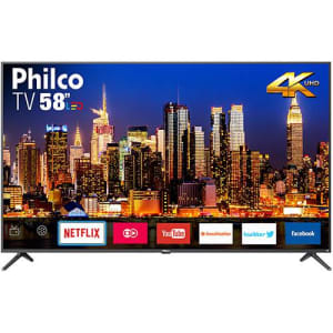 "Smart TV LED 58"" Philco PTV58f60SN Ultra HD 4k com Conversor Digital 3 HDMI 2 USB Wi-Fi"