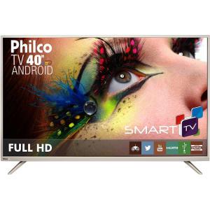 "Smart TV LED 40"" Philco PH40F10DSGWAC Full HD com Conversor Digital 2 HDMI 2 USB Wi-Fi (Cód. 131916668)"