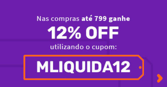 Cupom de 12% de Desconto em compras a partir de R$ 799