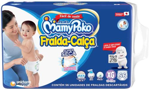 Fralda-Calça MamyPoko Tamanho XG, 56 unidades