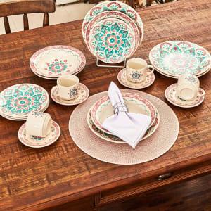 Jogo de Jantar Cerâmica 20 peças Donna Oxford Perola