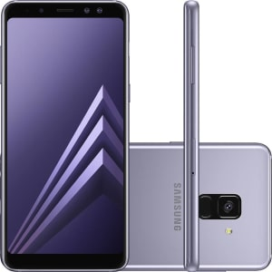 "Smartphone Samsung Galaxy A8 Dual Chip Android 7.1 Tela 5.6"" Octa-Core 2.2GHz 64GB 4G Câmera 16MP - Ametista"