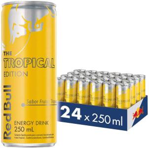 [Amazon Prime] Energético Tropical Red Bull Energy Drink Pack com 24 Latas de 250ml