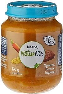 2 unidades - Papinha, Macarrão Carne e Legumes, Nestlé, 170g
