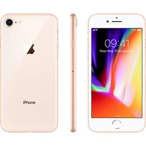 "iPhone 8 Dourado 64GB Tela 4.7"" IOS 11 4G Wi-Fi Câmera 12MP - Apple"