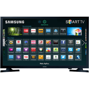 "Smart TV LED 32"" Samsung 32J4300 HD com Conversor Digital 2 HDMI 1 USB Wi-Fi 120Hz"