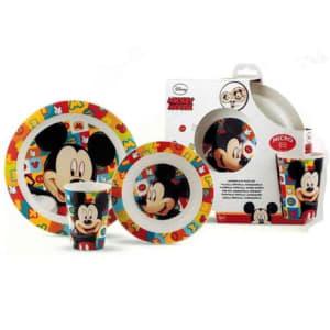 Conjunto Alimentação 3 Peças Disney - Lillo, Mickey