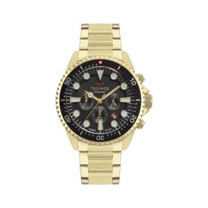 Relógio Technos Skymaster Masculino Dourado Analógico JS25CD/4C