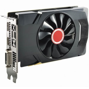 Placa de Vídeo XFX AMD Radeon RX 560D 4GB 14CU Single Fan, GDDR5 - RX-560D4SFG5