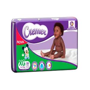 Fralda Descartável Cremer Disney Baby Econômica Tam. XG 168 Tiras