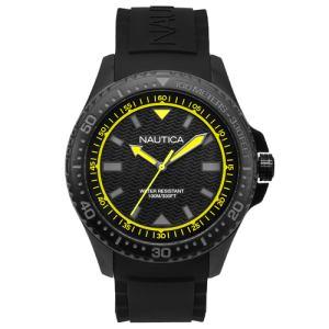 Relógio Nautica Masculino Borracha Preta - Napmau006