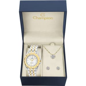 Relógio Feminino Champion Analógico Fashion CH30037W + Colar e Brinco