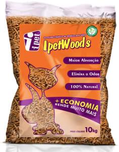 Granulado Higiênico de Madeira IPET Wood'S para Gatos 10kg IPET para Gatos
