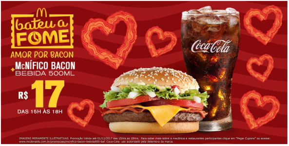 Cupom McDonald's - McNifico Bacon + Bebida 500ml