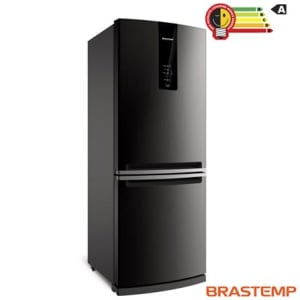 Refrigerador de 02 Portas Brastemp Frost Free com 443 Litros com Freezer Invertido Cor Inox - BRE57AK