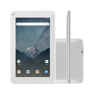 "Tablet Multilaser M7S GO Wi-Fi, Bluetooth 16GB Android Oreo Tela 7"" Câmera Frontal 1.3MP Branco"