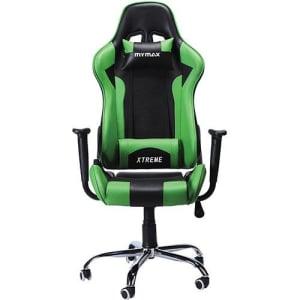 Cadeira Gamer Mymax Mx7 Giratória Preta/Verde (Cód. 133532588)