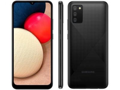 """Confira ➤ Smartphone Samsung Galaxy A02s 32GB Preto 4G – Octa-Core 3GB RAM 6,5"""" Câm. Tripla + Selfie 5MP – Magazine ❤️ Preço em Promoção ou Cupom Promocional de Desconto da Oferta Pode Expirar No Site Oficial ⭐ Comprar Barato é Aqui!"""