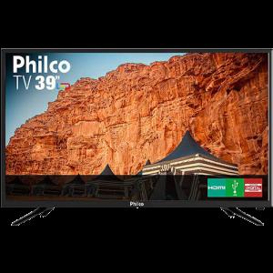 """TV LED 39"""" Philco PTV39N91D HD com Conversor Digital 2 HDMI 2 USB Som Surround 60Hz Preta"""