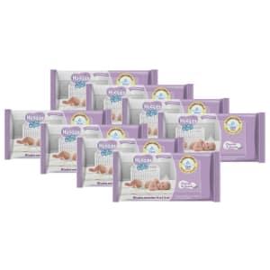 Lenços Umedecidos Huggies Baby Wipes Cheirinho de Lavanda - 384 Unidades