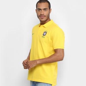 90fba0ff34 Camisa Polo Seleção Brasil 2018 Nike Masculina – Amarelo. Clique ➤ Saiba  mais detalhes sobre essa oferta no site de loja!