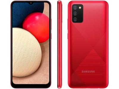 """Confira ➤ Smartphone Samsung Galaxy A02s 32GB Vermelho 4G – Octa-Core 3GB RAM 6,5"""" Câm. Tripla + Selfie 5MP – Magazine ❤️ Preço em Promoção ou Cupom Promocional de Desconto da Oferta Pode Expirar No Site Oficial ⭐ Comprar Barato é Aqui!"""