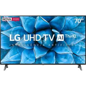 Smart TV LG 70'' 70UN7310 Ultra HD 4K WiFi Bluetooth HDR Inteligência Artificial ThinQ AI Smart Magic Google Assistente Alexa