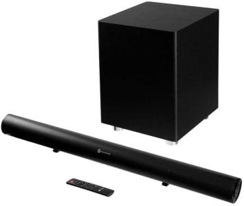 Soundbar Goldentec 280W RMS com Subwoofer sem fio Bluetooth e Entrada Óptica