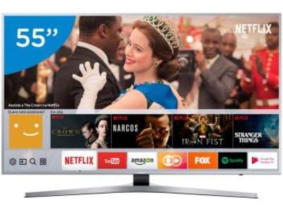 "Smart TV LED 55"" Samsung 4K Ultra HD - UN55MU6400GXZD Tizen Conversor Digital Wi-Fi - Magazine Ofertaesperta"
