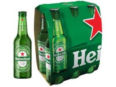 Cerveja Heineken Puro Malte Lager Premium - Long Neck 6 Garrafas de 330ml