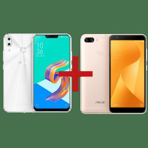 ZenFone 5 4GB/64GB Branco + Zenfone Max Plus (M1) 3GB/32GB Dourado