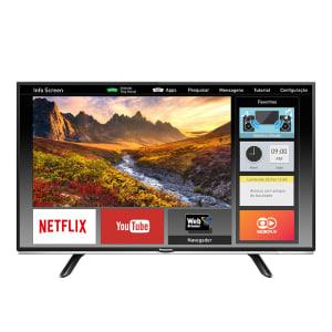 Oferta ➤ Smart TV LED 40 Panasonic Viera TC-40DS600B Full HD 2 HDMI 1 USB Preta com Conversor Digital Integrado   . Veja essa promoção
