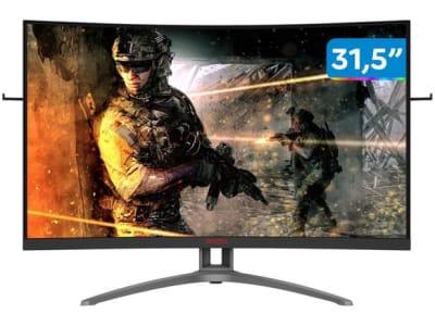 """Confira ➤ Monitor Gamer AOC Agon III AG323FCXE 31,5"""" LED – Curvo Widescreen Full HD HDMI VGA 1ms – Magazine ❤️ Preço em Promoção ou Cupom Promocional de Desconto da Oferta Pode Expirar No Site Oficial ⭐ Comprar Barato é Aqui!"""