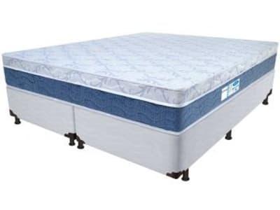 Cama Box King Size (Box + Colchão) ProDormir - Colchões Mola 34cm de Altura Sensitive Blue - Magazine Ofertaesperta