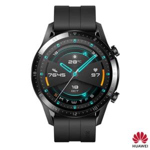 """Smartwatch GT 2 - LTN-B19S Huawei Preto com 1,39"""", Pulseira de Silicone, Bluetooth e 4GB"""