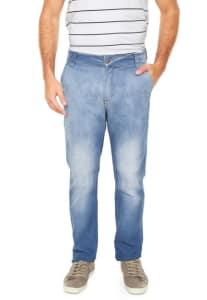 Calça Jeans Hering Slim Estonada Azul