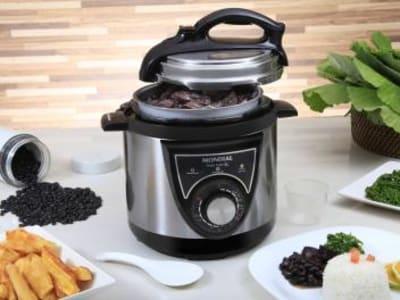 Panela de Pressão Elétrica Mondial Pratic Cook - PE-26 700W 3L Timer Controle de Temperatura - Magazine Ofertaesperta