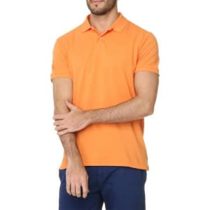 Polo Richards Light Com Bordado Laranja M
