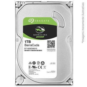 "HD Seagate BarraCuda 1TB 3,5"" 7200RPM 64MB Cache SATA III 6Gb/s - ST1000DM010"