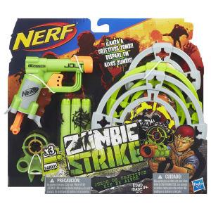 Lançador de Dardos Nerf Hasbro Zombie Strike com Alvos e Mira Removível