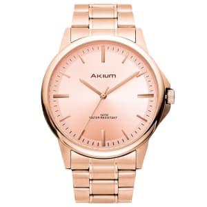 Relógio Akium Masculino Aço Rosé - TMG7088N1B