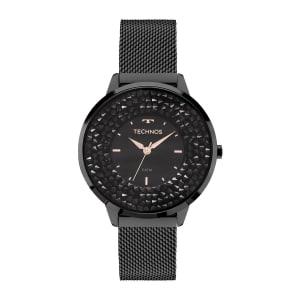 Relógio Technos Crystal Feminino Preto Analógico 2035MLF/1P