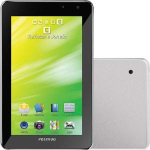 "Tablet Positivo YPY 07FTB 16GB Wi-fi + 3G Tela 7"" Android 4.0 Processador Cortex A9 1GHz - Prata"