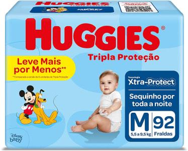 Fralda Huggies com Turma da Mônica Tripla Proteção Mega M - 92 Unidades
