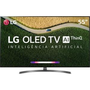 "Smart TV OLED 55"" LG OLED55B9 4 HDMI 3 USB Wi-Fi Dolby Vision e Dolby Atmos 120Hz"