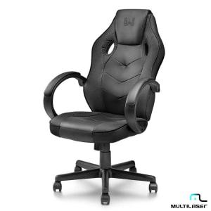 Cadeira Gamer com Função Basculante 15° Preta - Warrior