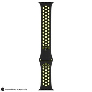 Pulseira Esportiva Nike para Apple Watch 38 mm Preta e Volt - MQ2H2BZ/A