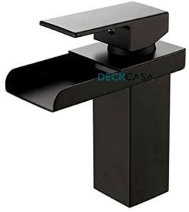 Torneira Banheiro Monocomando Preta Calha Metal Black Baixa