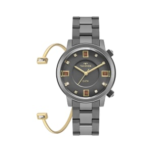 Relógio Technos Crystal Feminino Grafite Anadigi 2039BW/K4C
